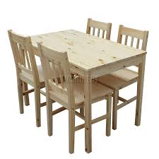 table wonderful wood 4 chairs dining table chair wood ds02 pine kmswm01 0 wood table and