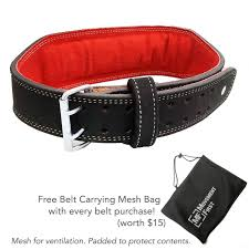 send to a friend premium suede leather weightlifting belt