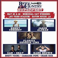 Win Tickets To The Bayou Country Superfest Krmd Fm