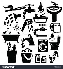 Black Bathroom Accessories Vector Black Bathroom Accessories Icons Set Stock Vector 122072959