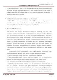 A Study On Investment Pattern Of Investors On Different Products Cond…