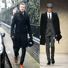 man trench coat new fashion slim fit men casual trench coat long winter coats wool style