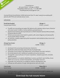 Social Work Resume Worker Medical How To Write Perfect Examples