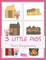 Three Little Pigs Story Sequencing Printable Cards | Fairy ...
