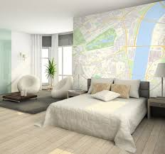 Custom Postcode wallpaper contemporary-bedroom