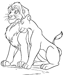 Small Picture Lion King Mufasa And Sarabi Free Coloring Page Animals Disney