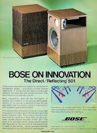 bose 501. ad for bose 501. far better than their new speakers! 501
