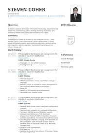 It Consultant (Contractor Per Assignment For Clients In Southern  California) Resume samples