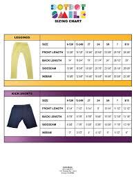 Dotdotsmile Size Charts Leggings And Kick Shorts Cheap