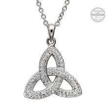 trinity knot pendant embellished with swarovski crystals