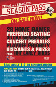 Ticket Information Truro Bearcats