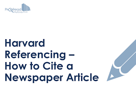 A Newspaper Article Harvard Referencing How To Cite A Newspaper Article