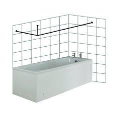 premier shower curtain rod large l shaped