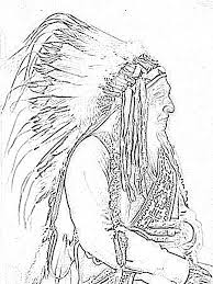 Small Picture Animal Coloring Pages for Adults American Indian Chief