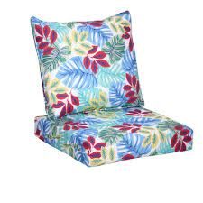 25 x 24 outdoor lounge chair cushion in standard multi tropical