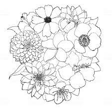 花の線画 2015年のベクターアート素材や画像を多数ご用意 Istock