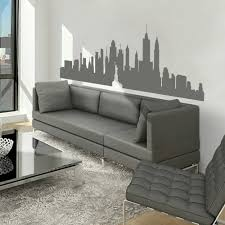 new york city skyline silhouette the big apple wall sticker nyc