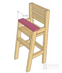 amazing wooden doll high chair plans with ana white doll high chair diy projects