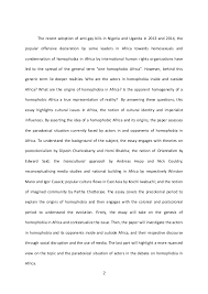 final essay homophobia in africa proofreaded  university of london 2 the recent adoption of anti gay