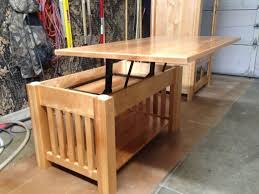 handmade mission style lift top coffee table by black swamp instructions
