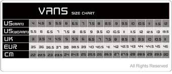 Vans Authentic Size Chart Vans Authentic Sizing