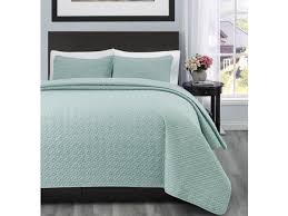 allyson king cal king size bed 3pc quilted bedspread aqua green color bed cover