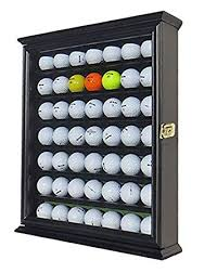 Golf Ball Display Stand Delectable Amazon 32 Golf Ball Display Case Cabinet Wall Rack Holder