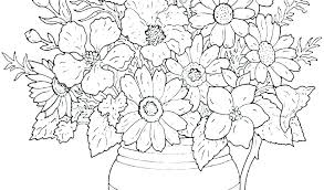 Coloring Flower Pages Fudeuinfo