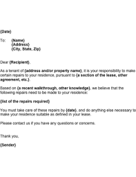 notice to tenant to make repairs templates as a tenant you can use this letter to inform a landlord of certain