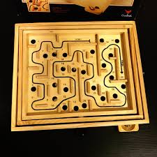 Wooden Maze Games Vintage Cardinal Wooden Labrinth Maze Game Pretty Poppies Vintage 68