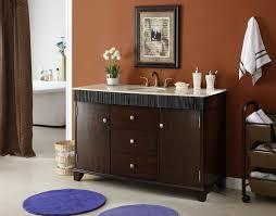 54 Bathroom Vanity Cabinet Adelina 54 Inch Contemporary Style Bathroom Vanity Cream Marble