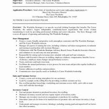 Resume Job Descriptions For Retail Sales Associate Fresh Retail ...