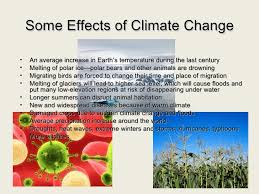 climate change presentation deforestation 6 some effects of climate change