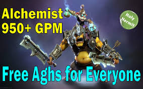 dota 2 alchemist mid carry with 900 gpm gameplay commentary