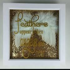 real feather angel wings remembrance picture frame glitter and feathers appear when angels are near bereavement