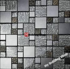 53 black and white mosaic wall tiles tst crystal glass tile silver black white metallic loona com