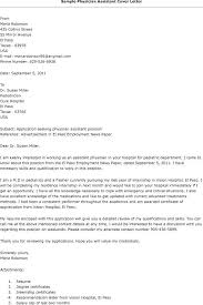 Examples Of Medical Cover Letters Application Letter Sample Medical