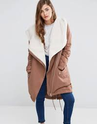 Asos Design Waterfall Parka With Borg Liner Waterfall Parka With Fleece Lining Like Items Parka