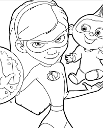 In incredibles 2, helen (voice of holly hunter) is called on to lead a campaign to bring supers back, while bob (voice of craig t. Incredibles 2 Coloring Pages Free Printable Coloring Pages For Kids