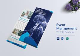 make tri fold brochure event management tri fold brochure design template in word psd
