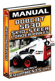 bobcat s skid steer loader parts manual heavy equipment bobcat s630 skid steer loader parts manual