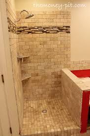 Master Bathroom Week 6: Tiling Shower Floor, Curb and Knee Wall ...