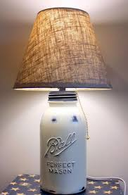 Easy Mason Jar Lamp Shade