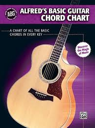 Alfreds Basic Guitar Chord Chart Bananas At Large Reverb