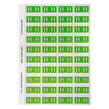 Avery Colour Coding Labels Alphabet H Self Adhesive Light Green Pack 240
