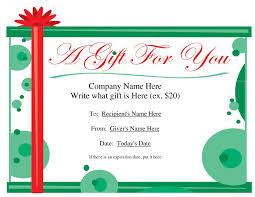Gift Voucher Format Sample Free Printable Gift Certificate Sample Fresh Free Printable Gift 19