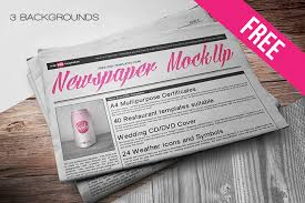 Free Newspaper Template Psd Free Newspaper Mock Up In Psd Free Psd Templates
