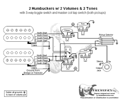 humbuckers 3 way toggle switch 2 volumes 2 tones coil tap 2 humbucker 2 volume 1 tone wiring at Guitar Wiring Diagrams 2 Humbucker 3 Way Toggle Switch