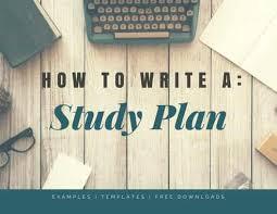 study plan essay study plan sample study plan example  study plan essay examples and templates