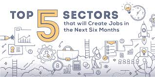 top sectors that will create jobs in the next six months explained below are the top 5 sectors where hiring activity will be the highest in the next six months